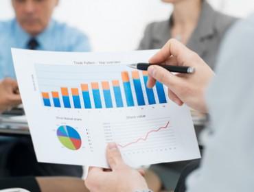 Closeup Of Business Graph